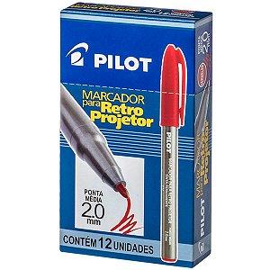 Caneta Retroprojetor 2.0Mm Marcador Vermelho Pilot