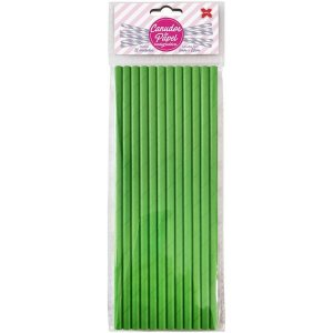 Canudo Biodegradável Verde 6X200Mm Bl.c/12Un Make+
