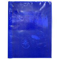 Capa Para Caderno Plástica Brochurao Azul Plasitiban