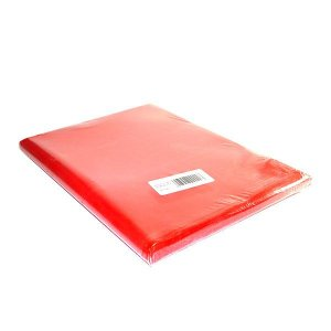 Capa Para Caderno Plástica Brochurao Vermelho Plasitiban