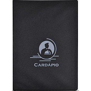 Cardapio Preta P/6Fls.160Mmx225Mm Acp