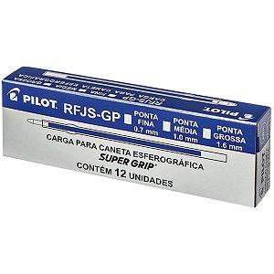 Carga Caneta Esferográfica Rfjs-Gp 1,0Mm Azul Pilot