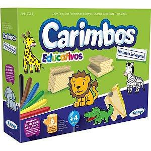 Carimbo Pedagógico Animais Selvagens P/colorir Xalingo