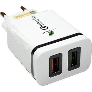 Carregador Celular De Parede 2X1 Qualcomm 4.0/type C/c/carr Flex