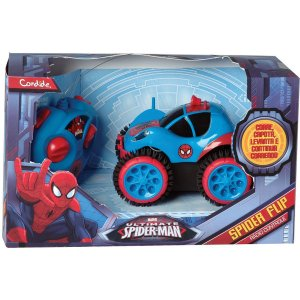 Carrinho Controle Remoto Spider-Man Spider Flip Candide