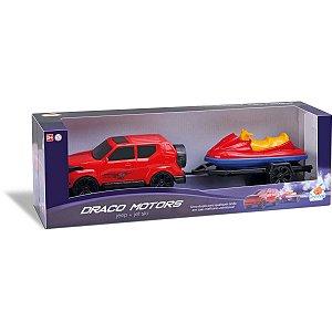 Carrinho Jeep Draco Jet Ski Sort. Orange Toys