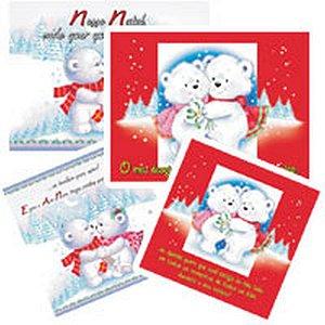 Cartão De Natal Kit-261 4Mod.gigante Gn1/4 Env Cristina