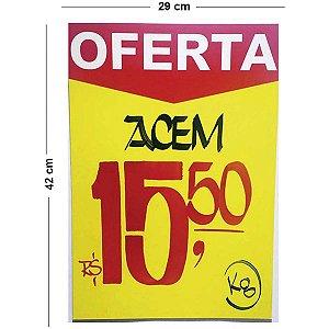 Cartaz Para Marcacao Oferta Amarelo A3 250G 29X42Cm Radex