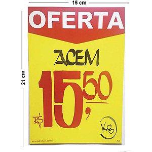 Cartaz Para Marcacao Oferta Amarelo A5 250G 15X21Cm Radex