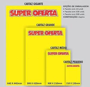 Cartaz Para Marcacao Oferta Grande 30X42Cm. Amarelo Grespan