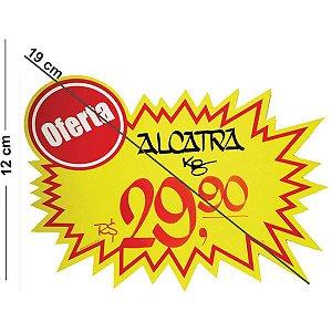Cartaz Para Marcacao Splash Oferta Amarelo 12X19Cm Radex