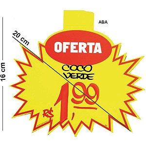 Cartaz Para Marcacao Splash Oferta Amarelo 16X20Cm Radex