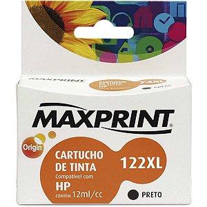 Cartucho Compativel Hp 122Xl Preto Maxprint