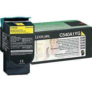 Cartucho De Toner Orig.lexmark C540A1Yg Amarelo C540/c543/544 Lexmark
