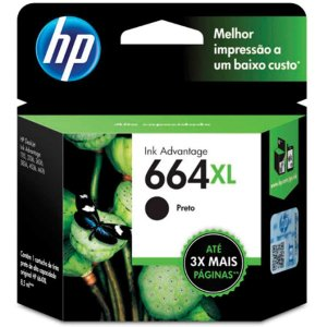 Cartucho Original Hp 664Xl Preto Ink Advantage Hp