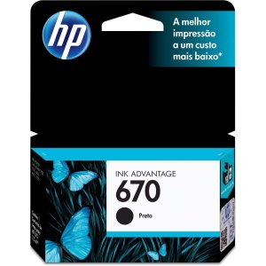 Cartucho Original Hp 670 Preto Ink Advantage Hp