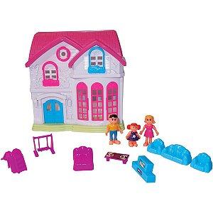 Casinha De Boneca Villa Colorida Rf933 Toy Mix