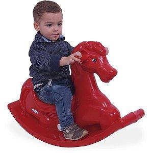 Cavalinho Infantil Anda Cavalinho Vermelho C/som Xalingo