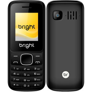Celular Barra Preto Dual Chip Bright