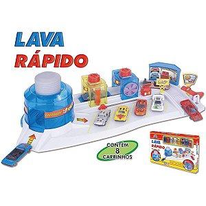 Cenario Tematico (Playset) Lava Rapido C/8Carrinhos Braskit