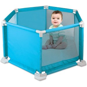 Cercado Para Bebê Azul 1,10X93X50Cm. Braskit