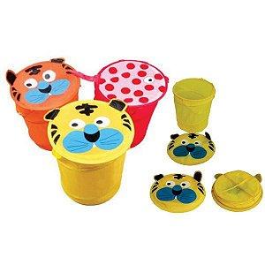Cesto Para Brinquedo Nylon 37X41Cm Sortidos Toy Mix