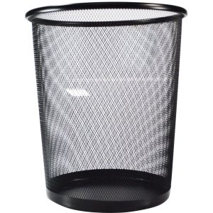 Cesto Para Lixo Aramado Preto 8,5L Kit