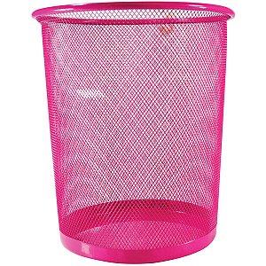 Cesto Para Lixo Aramado Rosa 8,5L Kit