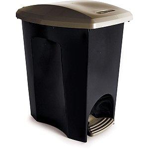 Cesto Para Lixo Ecoblack Com Pedal 15L Plasutil