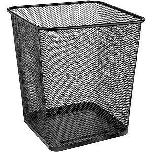 Cesto Para Lixo Metal Quadrado 16,5L Preta Ordene