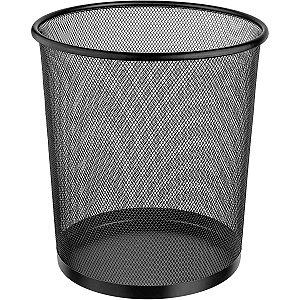 Cesto Para Lixo Metal Redonda 12,5L Pt 26X28 Ordene