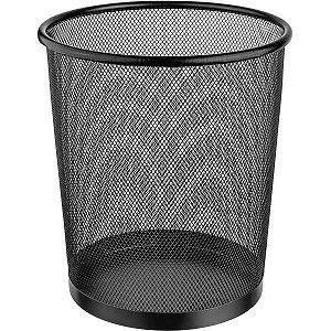 Cesto Para Lixo Metal Redonda 8,5L Preta 23X26 Ordene