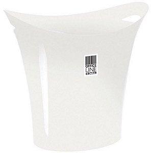 Cesto Para Lixo Plástico Branco 8,8L. Ordene