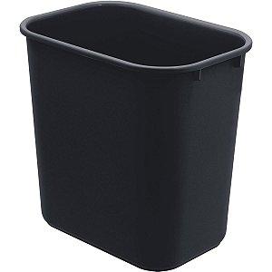 Cesto Para Lixo Plástico Preto 24 Litros Acrimet
