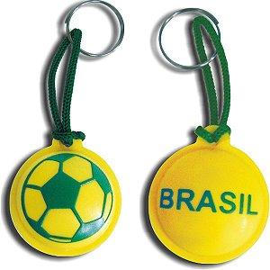Chaveiro Do Brasil Bola Emborrachado Curto Sortid Enjeplastic