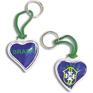Chaveiro Do Brasil Coração Curto C/gel Sortidos Enjeplastic