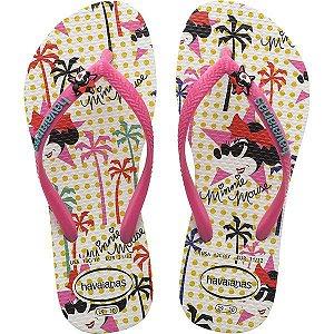 Chinelo Havaianas Infantil Disney Cool Slim 27/8 Br/rs Fl Havaianas