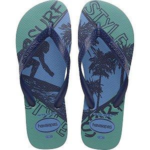 Chinelo Havaianas Masculino Top Athletic 37/8 Azul Aço Havaianas