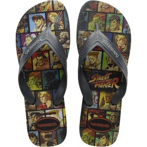 Chinelo Havaianas Masculino Top Max Street Fighter 41/2 Cz Havaianas