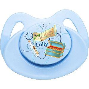 Chupeta Tip Silicone Orto T2 Azul Lolly