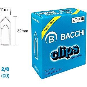 Clips Galvanizado Aço 2/0 (00) 100 Unidades Bacchi
