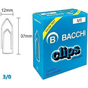 Clips Galvanizado Aço 3/0 50 Unidades Bacchi