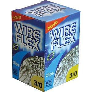 Clips Galvanizado Aço 3/0 50 Unidades Wire Flex