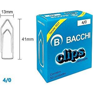 Clips Galvanizado Aço 4/0 50 Unidades Bacchi