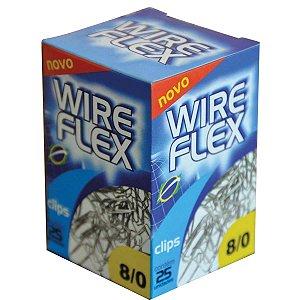 Clips Galvanizado Aço 8/0 25 Unidades Wire Flex