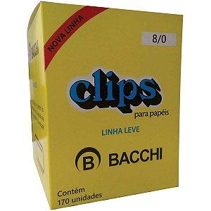 Clips Galvanizado Aço 8/0 Linha Leve 170 Un Bacchi