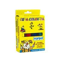 Cola Colorida Estojo  Com 04 Cores 25G Maripel