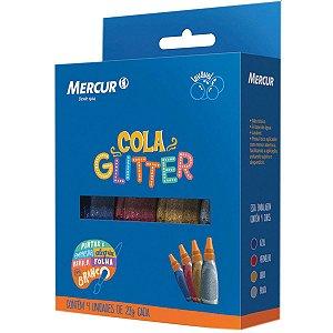 Cola Com Glitter 4 Cores 20G. Mercur