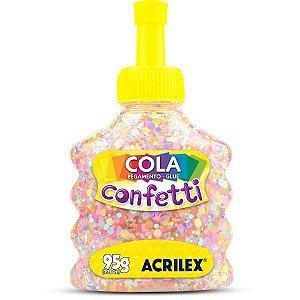 Cola Com Glitter Confetti Algodao Doce 95G. Acrilex