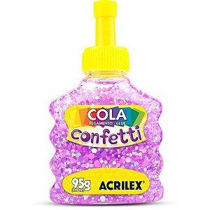 Cola Com Glitter Confetti Carnaval 95G. Acrilex